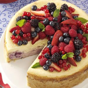 Red, White and Blue Cheesecake Recipe