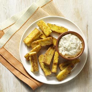 Polenta Fries with Blue Cheese Dip