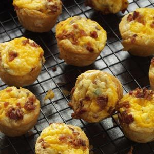 Bacon-Sausage Quiche Tarts Recipe