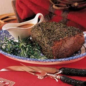 Herb-Crusted Roast Beef Recipe