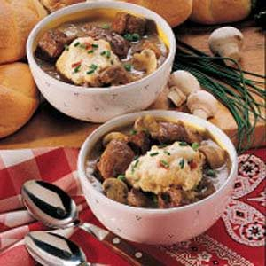 Stew with Confetti Dumplings Recipe