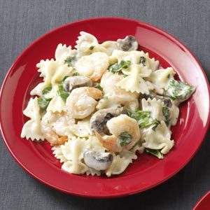 Pasta with Shrimp & Basil Recipe