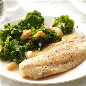 Garlic Tilapia with Spicy Kale Recipe