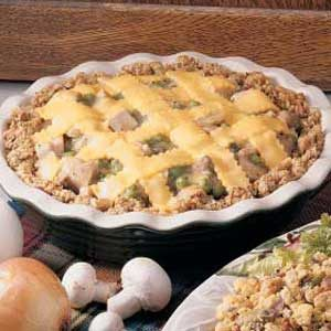 Turkey 'n' Stuffing Pie Recipe