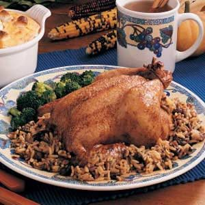 Cornish Hens with Rice Stuffing