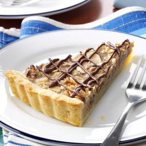 Chocolate Drizzled Maple-Nut Tart Recipe