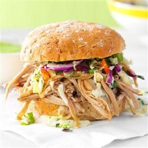 Sesame Pulled Pork Sandwiches Recipe
