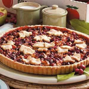 Quick Apple Cranberry Tart