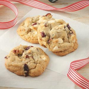 White Chocolate Cran-Pecan Cookies Recipe