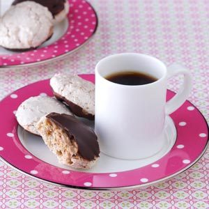 Chocolate-Dipped Almond Macaroons Recipe