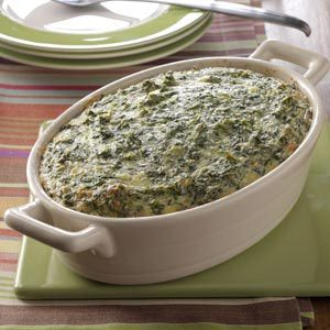 Spinach Souffle Side Dish Recipe