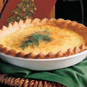 Curried Crab Quiche Recipe