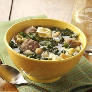 Cheese Tortellini and Kale Soup Recipe