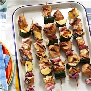 Marinated Chicken & Zucchini Kabobs Recipe
