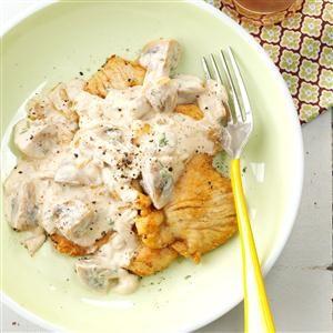 Light Turkey Cutlets Stroganoff Recipe