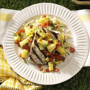 Fruity Halibut Steaks
