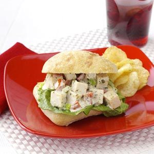 Pesto Chicken Salad Sandwiches Recipe