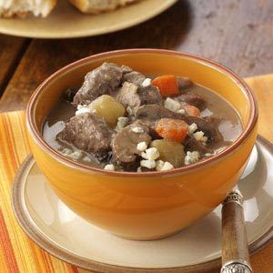 Garlic Mushroom French Beef Stew Recipe