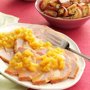 Slow-Cooked Ham with Pineapple Sauce Recipe