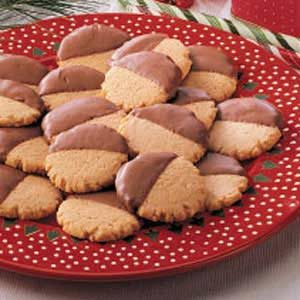 Dipped Peanut Butter Cookies Recipe