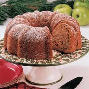Fresh Apple Black Walnut Cake