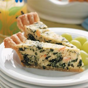 Crab and Spinach Quiche Recipe