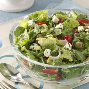 Marinated Cheese-Topped Salad