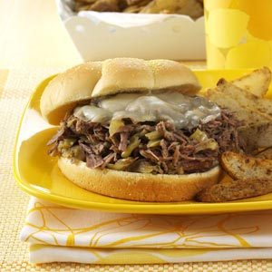 Spicy Shredded Beef Sandwiches