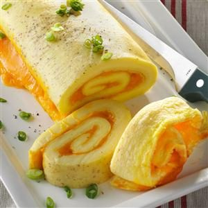 Baked Omelet Roll Recipe