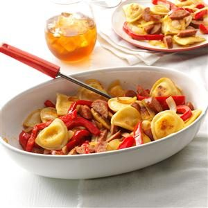 Sausage & Pepper Pierogi Skillet Recipe