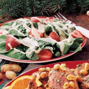 Spinach Salad with Peanut Dressing Recipe
