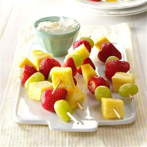 Fruit Kabobs with Cream Cheese Dip Recipe