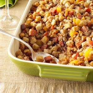 Fruit & Nut Andouille Stuffing Recipe