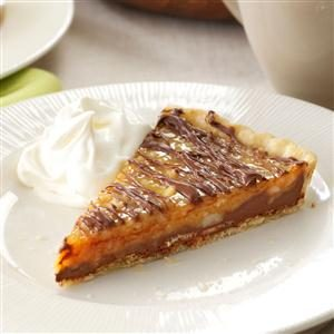 Chocolate-Nut Caramel Tart Recipe