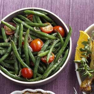 Green Beans with Tomatoes & Basil Recipe