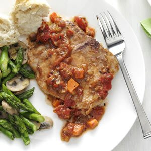 Tomato-Topped Italian Pork Chops Recipe