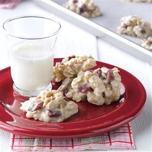 White Almond No-Bake Cookies Recipe