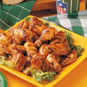 Barbecued Hot Wings Recipe
