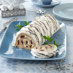 Cherry-Walnut Cake Roll