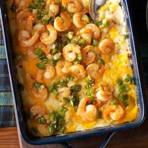 Oven-Baked Shrimp & Grits Recipe