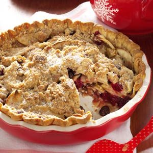 Dutch Cranberry-Apple Pie Recipe
