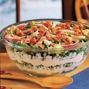 Bacon-Swiss Tossed Salad Recipe