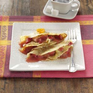 Sweet-Tart Rhubarb Crepes Recipe