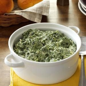 Three-Cheese Creamed Spinach Recipe
