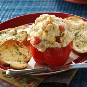 Goat Cheese Spread in Roasted Pepper Cups Recipe