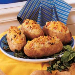 Cheddar-Mushroom Stuffed Potatoes Recipe
