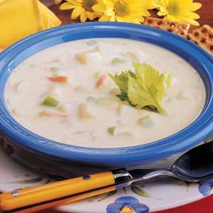 Creamy Potato and Cheese Soup