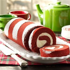 Red Velvet Cake Roll Recipe