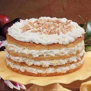 Pretty Pineapple Torte Recipe
