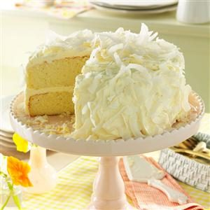 Coconut Cake with White Chocolate Frosting Recipe